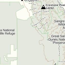 Sand Dunes Colorado Map.Track 7 24 16 Great Sand Dunes Alamosa Co Gaia Gps