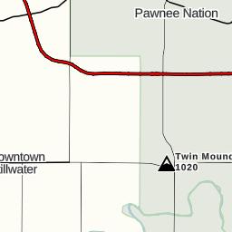 Pine Grove Drive To South Cimarron Road Payne County OK USA - Oklahoma counties road map usa
